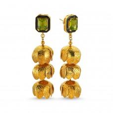 Palm Earrings-Peridot