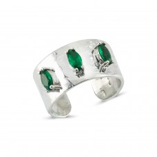 Troya Ring-Green Marquise