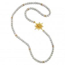 Sun & Pearl Necklace