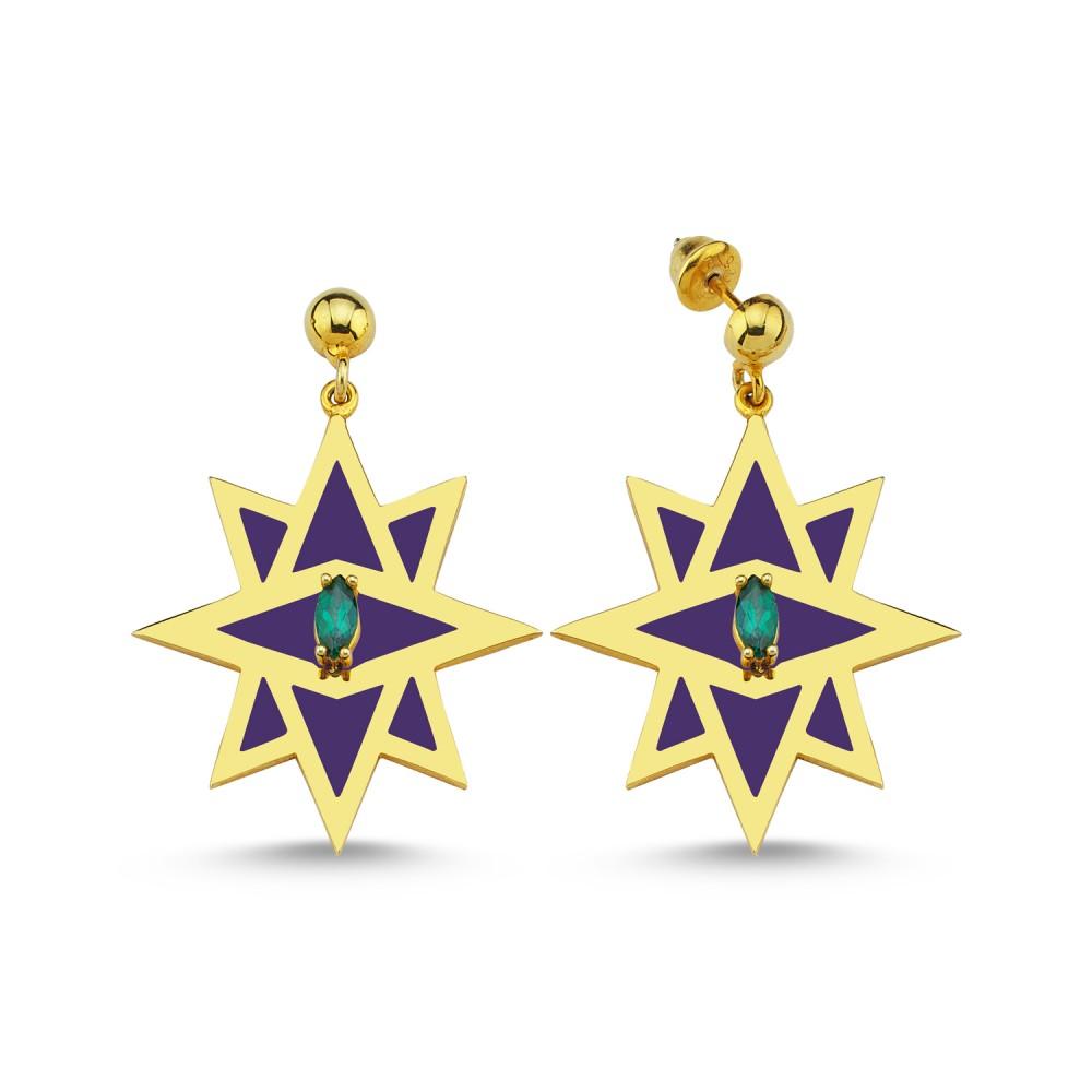 Star Earrings (Blue)