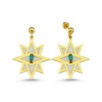 Star Earrings (White)
