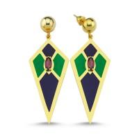 Audrey  Earrings (Blue&Green)