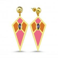 Audrey Earrings (Pink&Orange)