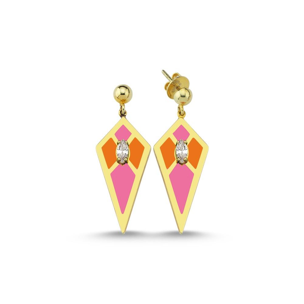 Audrey Mini Earrings (Orange&Pink)