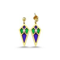Audrey Blue&Green Earrings
