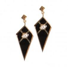 Audrey Mini Black Earrings
